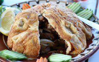 An omelette pie