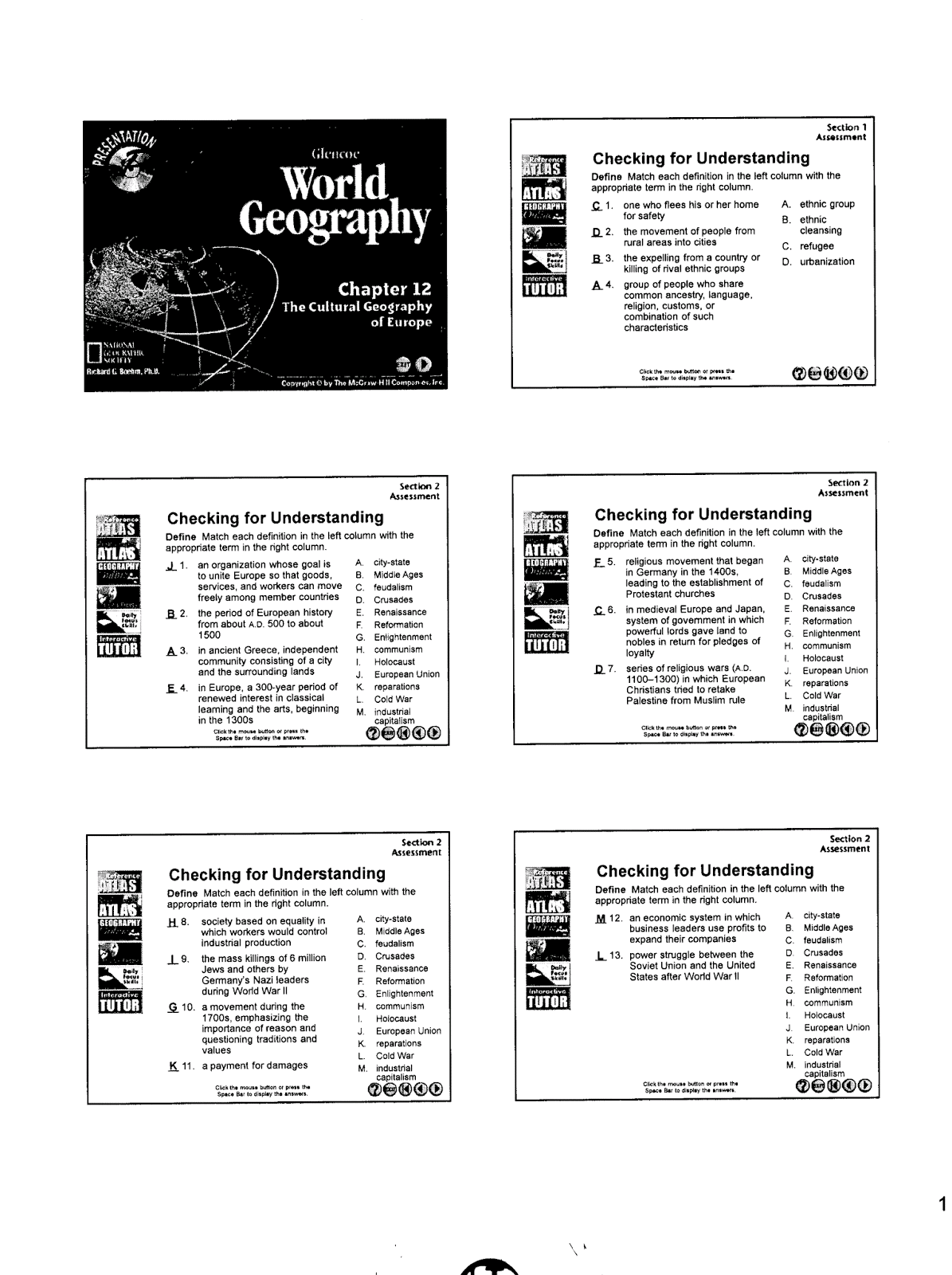 Mr E S World Geography Page Chapter 12
