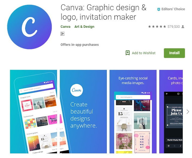 Canva App For Bloggers on Play Store