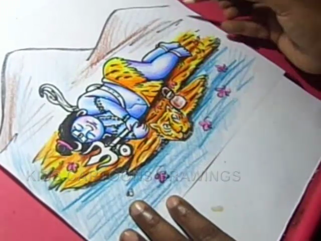 KIDS CARTOON DRAWINGS: How to Lord Child Shiva Drawing