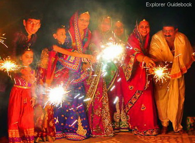 ritual perayaan hari diwali di India