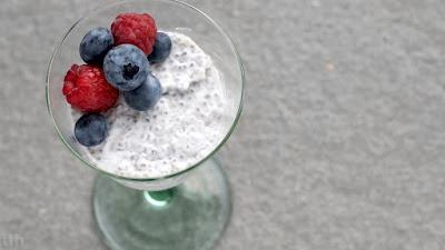 deser pudding kokosowy chia wegański przepis blog