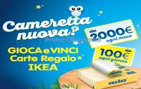Logo Formaggino Mio ''Cameretta nuova ?'': vinci buoni spesa IKEA da 100€ e da 2.000€