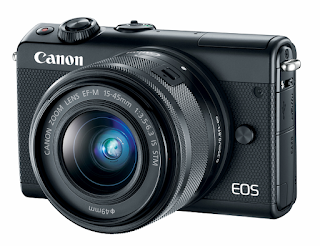 Canon EOS M100 Camera - Black with EF-M 15-45mm