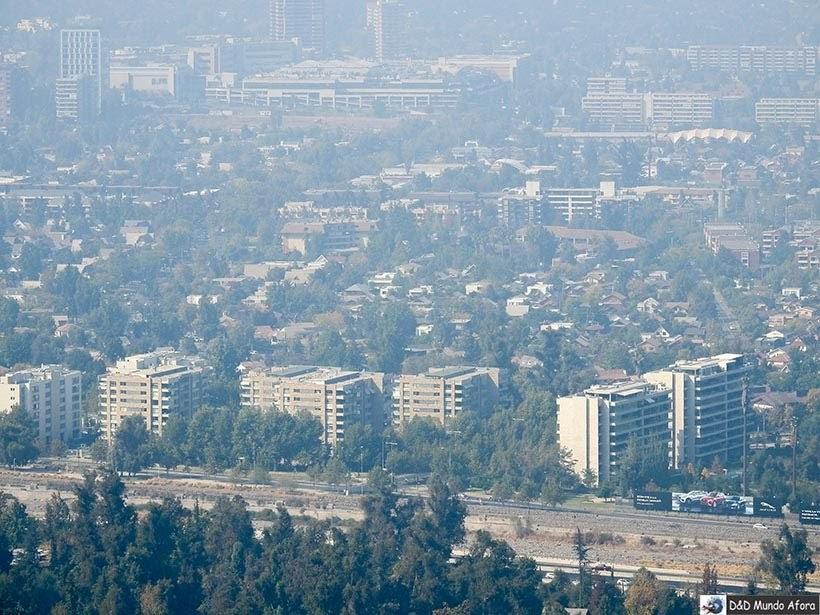 Vista de Santiago - Diário de Bordo Chile: 8 dias em Santiago e arredores