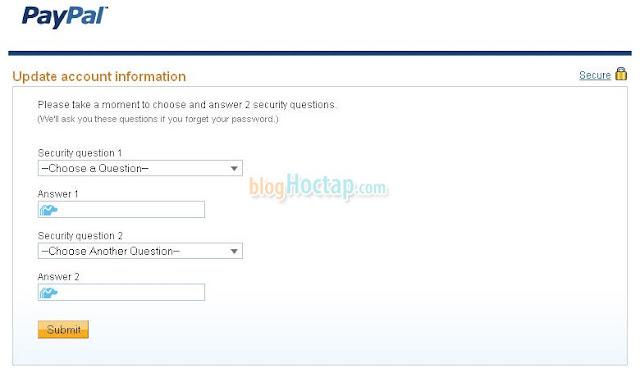 hướng dẫn đăng ký paypal bước 5