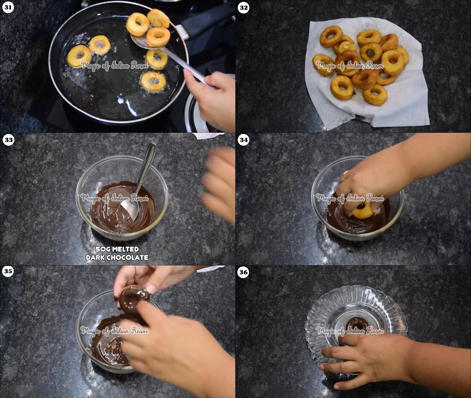 Eggless Donuts Recipe (Soft & Spongy) - 7