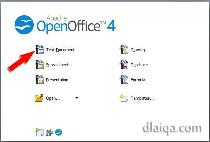 d'Laiqa Arena: Pengaturan Awal Open Office Writer Versi 4