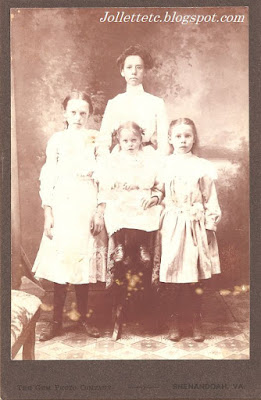 4 of the Sullivan girls about 1900 https://jollettetc.blogspot.com