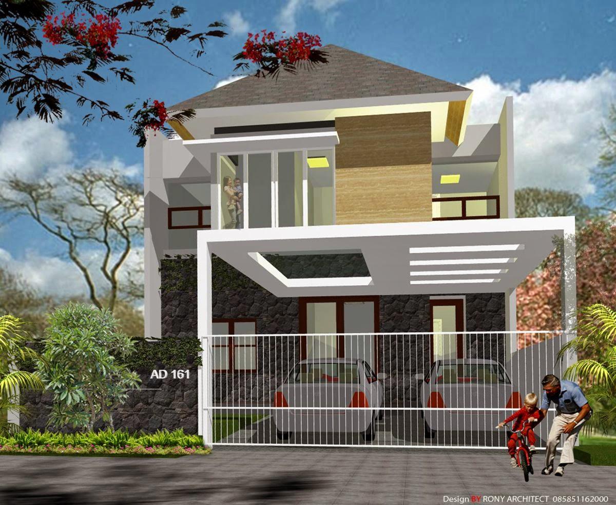 Denah Rumah Minimalis 2 Lantai Ukuran 8x12 Desain Rumah Minimalis