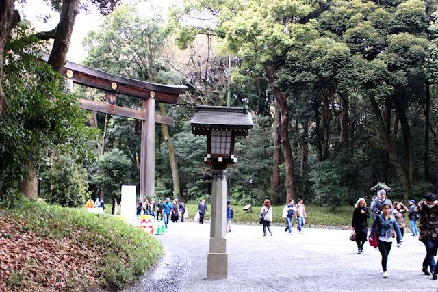 l'entrée du Meiji-gu - Japon