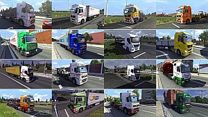 Painted truck traffic mod 1.3.1 by jazzycat