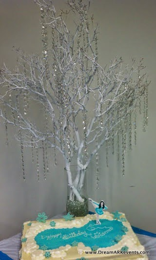 Crystals tree centerpiece