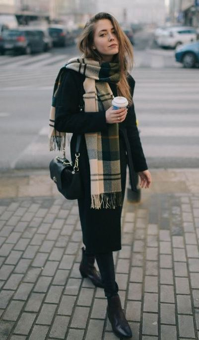 Casual Style: Black Coat