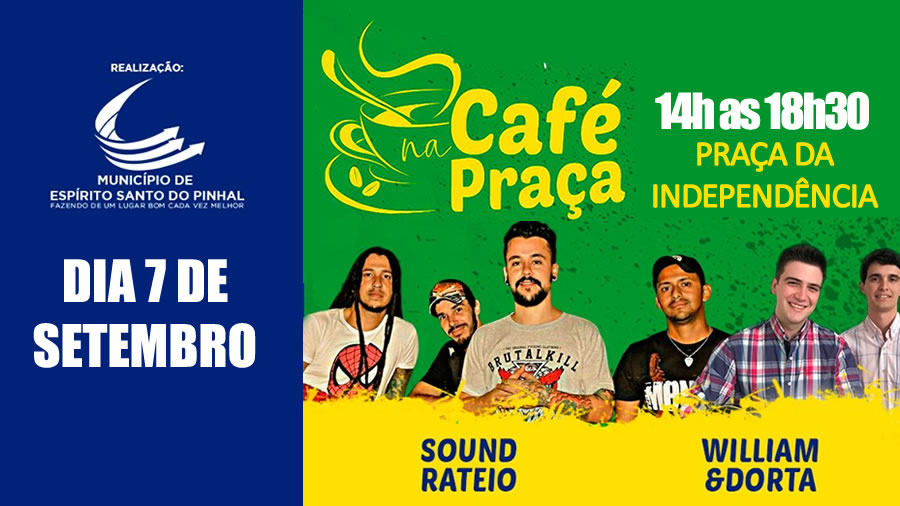 Do rock ao sertanejo: Café na Praça tem programação especial neste feriado