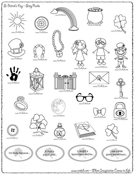 St Patrick's Day Clip art, Crafts, Printables Coloring