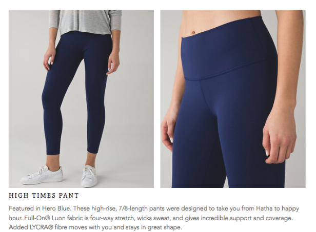 lululemon high-times