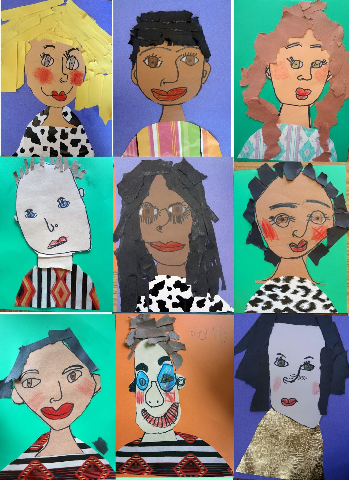 The Talking Walls First Grade Self Portraits