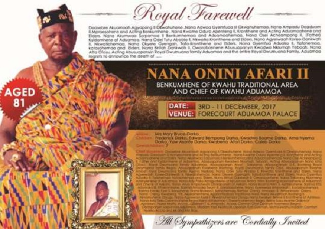 Kwahu Benkumhene to be laid in state