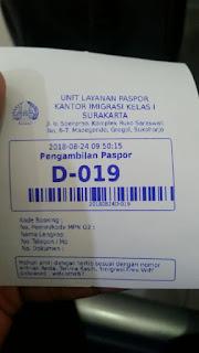 Nomor Antrian Pengambilan Paspor