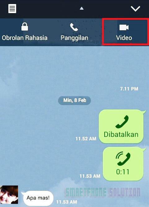 Cara Video Call Line Di Android