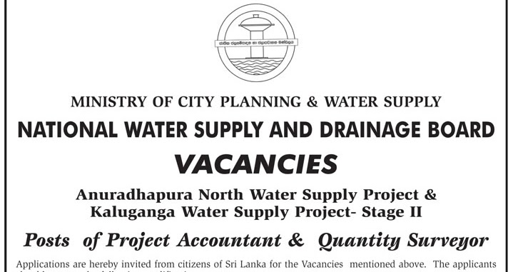 Project Accountant Quantity Surveyor Sri Lanka