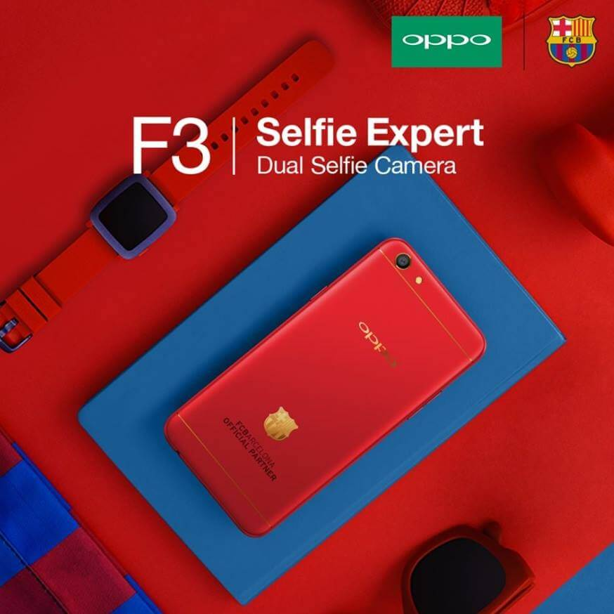 Get a Chance to Win Limited Edition OPPO F3 FC Barcelona