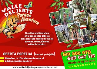 Parque multiaventura con descuento en el Valle del Jerte y para toda la familia