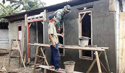 Cukup Efektif, Kolaborasi Tentara Tukang dan Warga Tukang