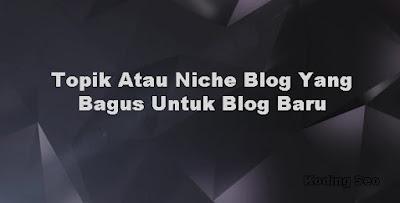 Topik Atau Niche Yang Bagus Untuk Blog Baru