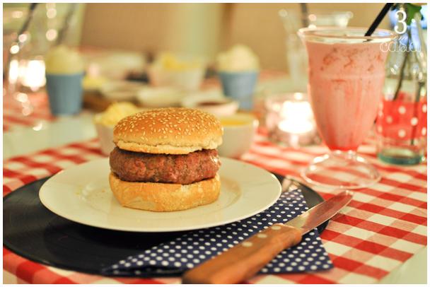 decoração de noite do hambúrguer