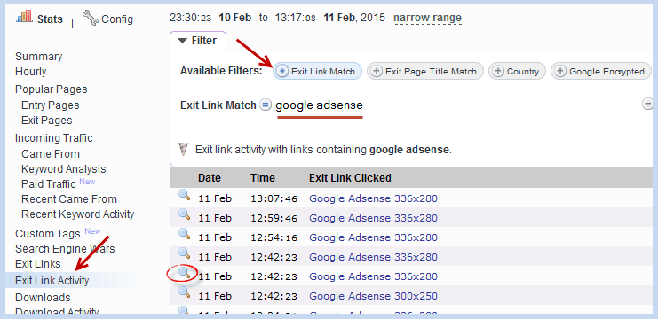 How to Track Invalid Adsense Clicks Using StatCounter 2