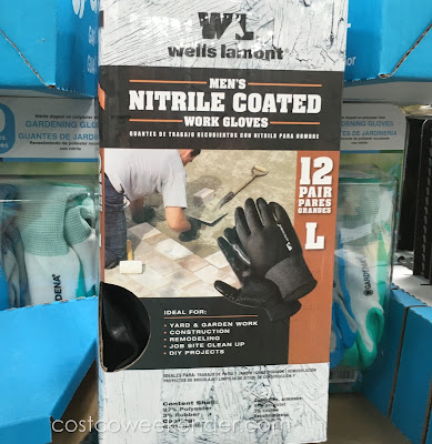 Protect your hands while you work with the Wells Lamont Men's Nitrile Work Gloves