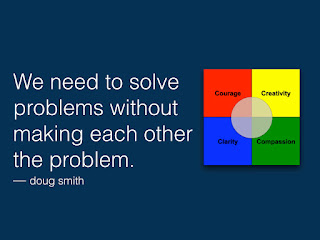 We need to solve problems without making each other the problem - doug smith