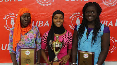 the winners in the UBA Foundation, National Essay Competition 2016 Senegal.