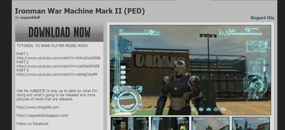GTA X Scripting: Iron Man IV - Installing new armors - Step by step