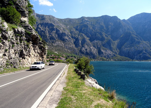 On the road in Kotor Bay, Montenegro