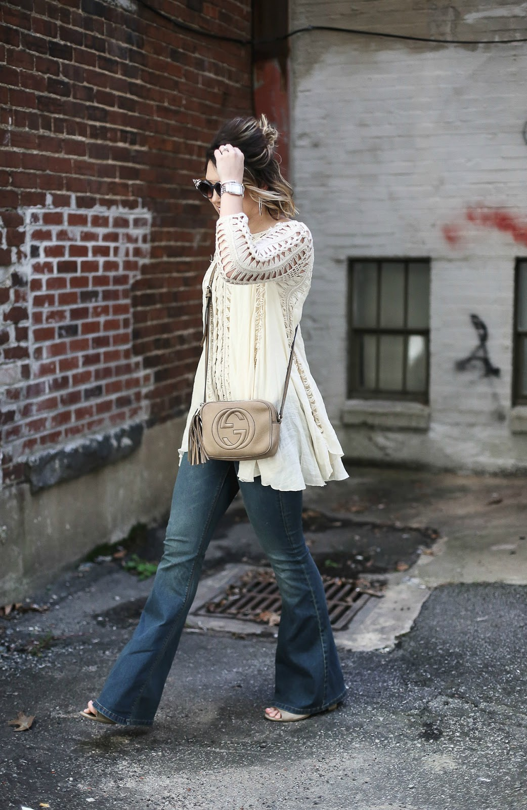 gucci crossbody, free people, jimmy choo vivy