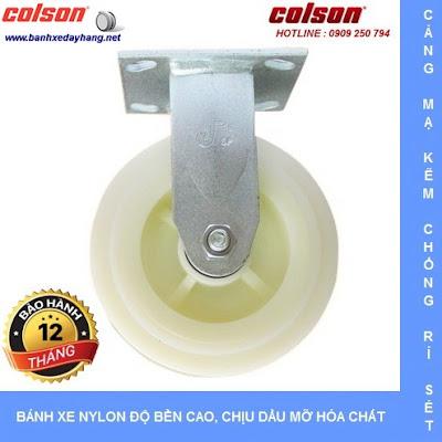Bánh xe Nylon. bánh xe đẩy chịu tải trọng (243 - 370kg/bánh) www.banhxepu.net