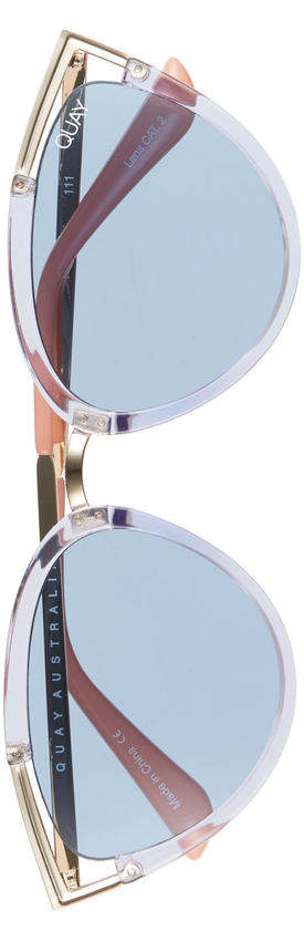 Quay Australia Hearsay 65mm Cat Eye Sunglasses