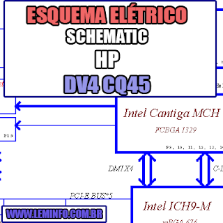 Esquema Elétrico Notebook HP CQ45 COMPAL LA - 4102P Laptop Manual de Serviço