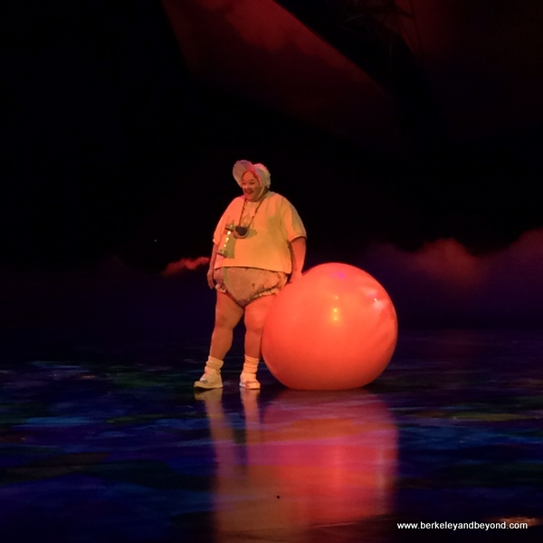 big baby in Mystere at Treasure Island in Las Vegas