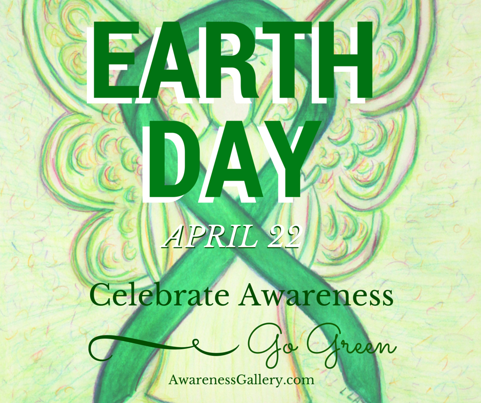 Earth Day April 22 Celebrate Awareness Go Green Guardian Angel Art