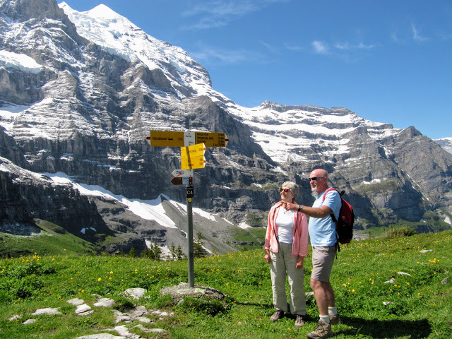 Kleine Scheidegg to Wengen walk, Bernese Oberland, Switzerland