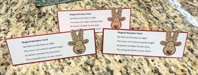 Lauras Card Corner Magic Reindeer Food