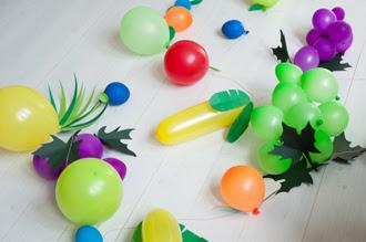 Tự tay làm set bóng bay trang trí sinh nhật hình hoa quả cho bé 7