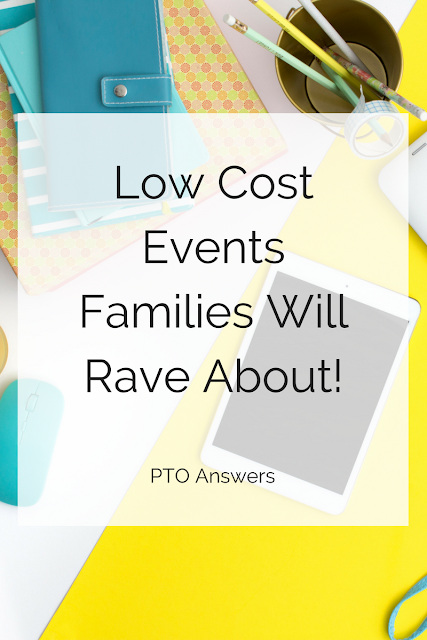 Low cost family fun events that families will absolutely rave about!  Perfect for PTA, PTO and other parent groups.  Stop stressing about coming up with the next genius idea. and steal one of these fab ideas instead!