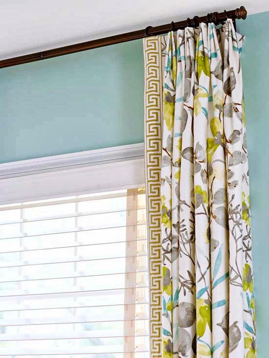 Renove as cortinas e gastando pouco