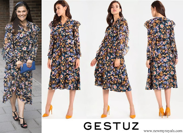 Crown Princess Victoria wore Gestuz Fally Multi-Color Day Dress