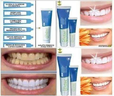 Creme Dental Clareador Glister Cangucu Em Foco